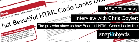 Next Thursday Interview with Chris Coyier: The guy who showed us how Beautiful HTML Codes Looks like