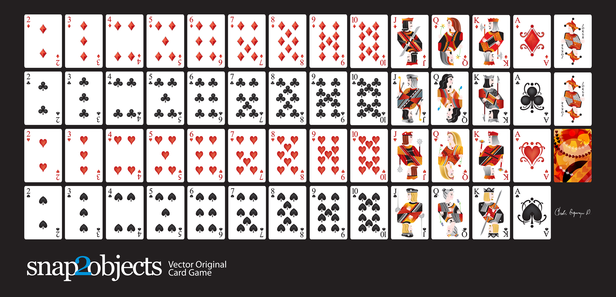 graphic regarding Printable Deck of Cards named No cost Vector Participating in Playing cards Deck -