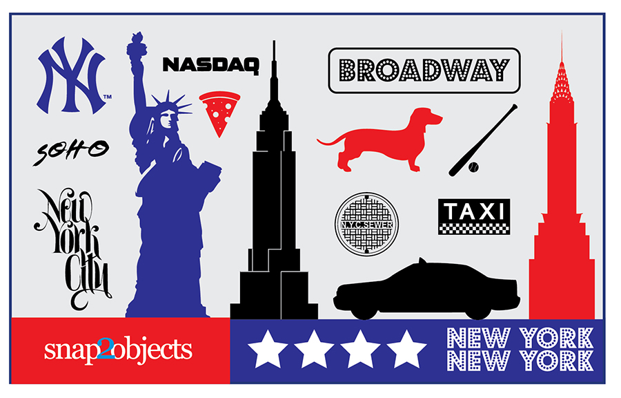 Free vector new york icons snap2objects